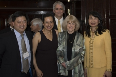 Past Prize winner Dr. Fred Alt and current winner Dr. Mary-Claire King accompany Dr. Sujuan Ba and Mr. Franklin Salisbury