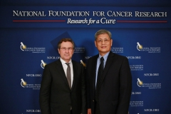 NFCR's Michael Wang with Prize Winner Michael Hall