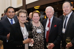 Guillermo Garcia and Hammond Han of UBS Financial Services meeting NFCR Board Chair Joe Franlin and his wife and NFCR Board of Advisor member Judy Franlin, along with NFCR's Sandi Terklesen