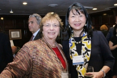 Dr. Sujuan Ba with 2017 Prize Selection Commitee member, Dr. Zena Werb from the University of California, San Francisco