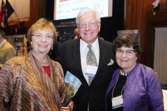 Attending scientists enjoy a reunion- (L to R) Dr. Zena Werb, UCSF; Dr. Laurence Hurley,Univ. Arizona; and Dr. Susan Horwitz, Albert Einstein College of Medicine