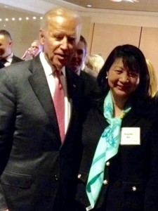 Vice President Joe Biden with Dr. Sujuan Ba, President NFCR