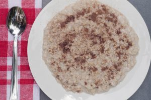 oatmeal with cocoa