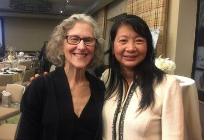 Pictured: G. Bonnie Feldman, Founder of NBTS (left) and Dr. Sujuan Ba