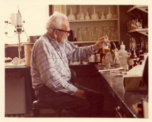 Dr. Albert Szent-Györgyi in the lab
