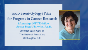2020 Szent-Györgyi Prize for Progress in Cancer Research Invite