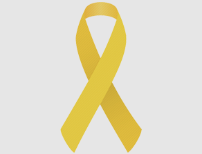 Gold Childhood Cancer Ribbon